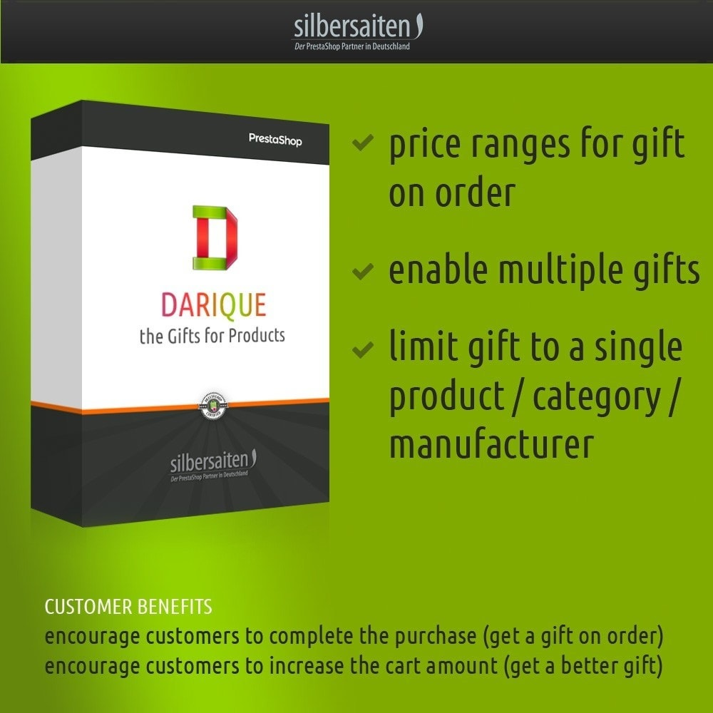 module - Promotions & Gifts - Darique - Gift Products on Order Displayed in your Cart - 1