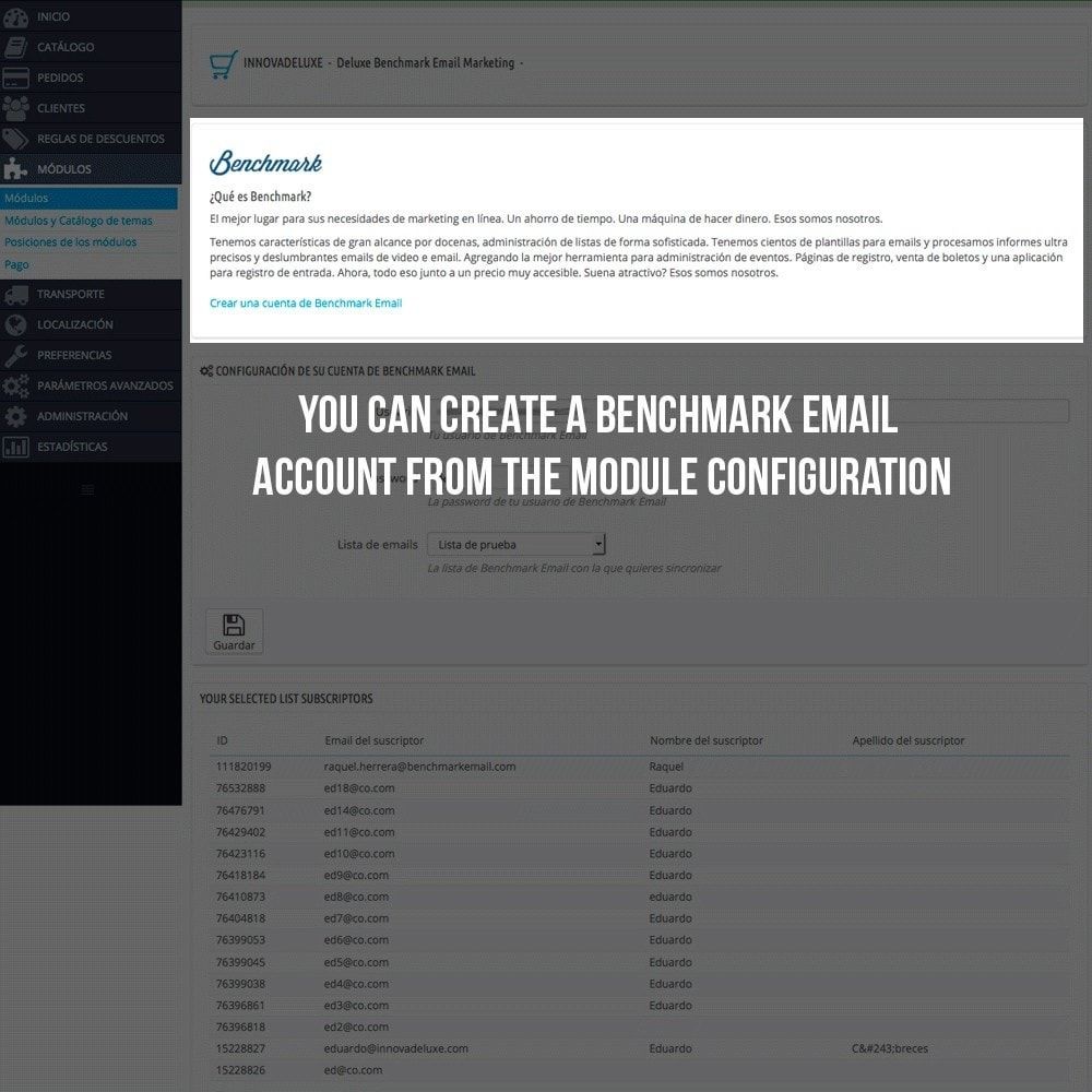module - E-maile & Powiadomienia - Benchmark Email Marketing Integration - 3
