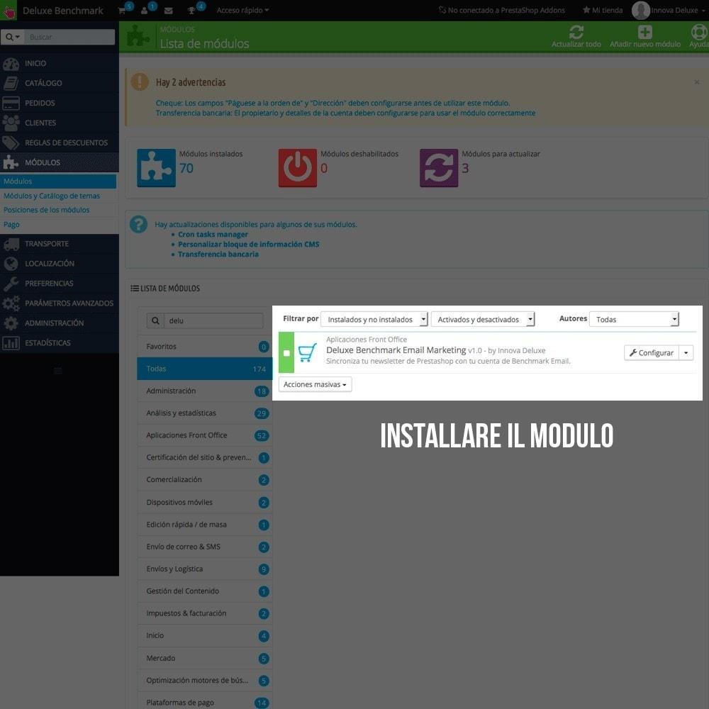 module - Email & Notifiche - Integrazione Benchmark Mail Marketing - 2