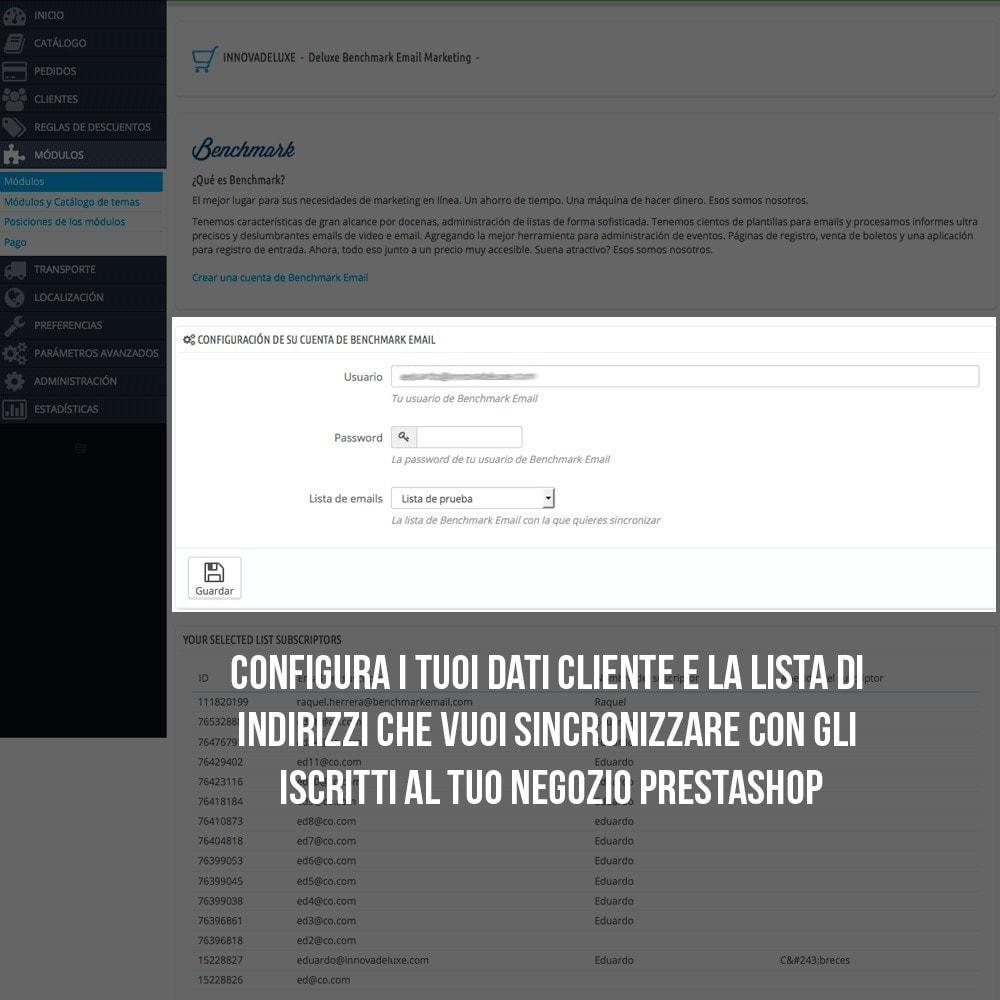 module - Email & Notifiche - Integrazione Benchmark Mail Marketing - 4