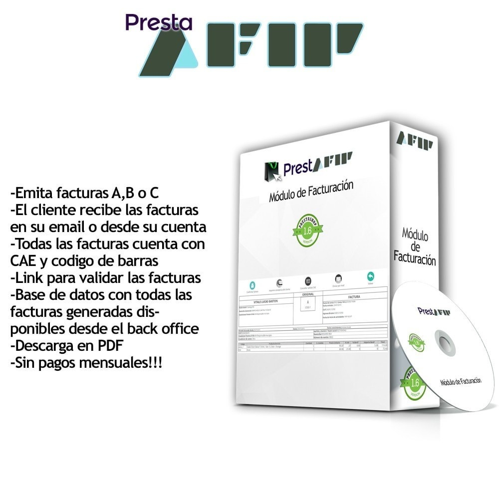 module - Comptabilité & Facturation - PrestAfip - Electronic Invoice for AFIP - 1