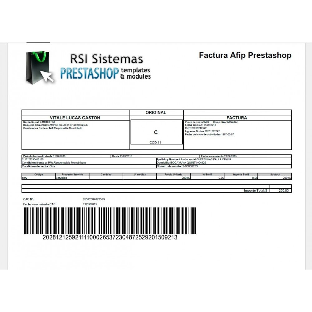 module - Accounting & Invoicing - PrestAfip - Electronic Invoice for AFIP - 3