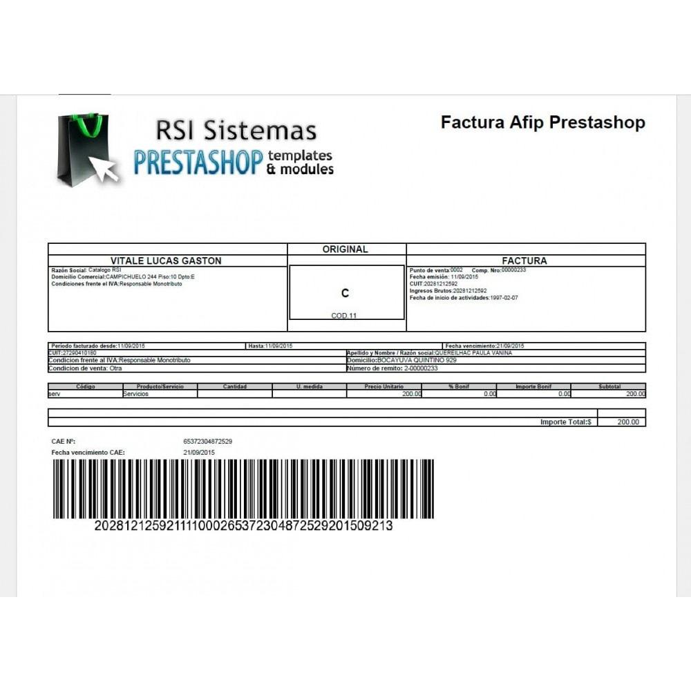 module - Comptabilité & Facturation - PrestAfip - Electronic Invoice for AFIP - 3