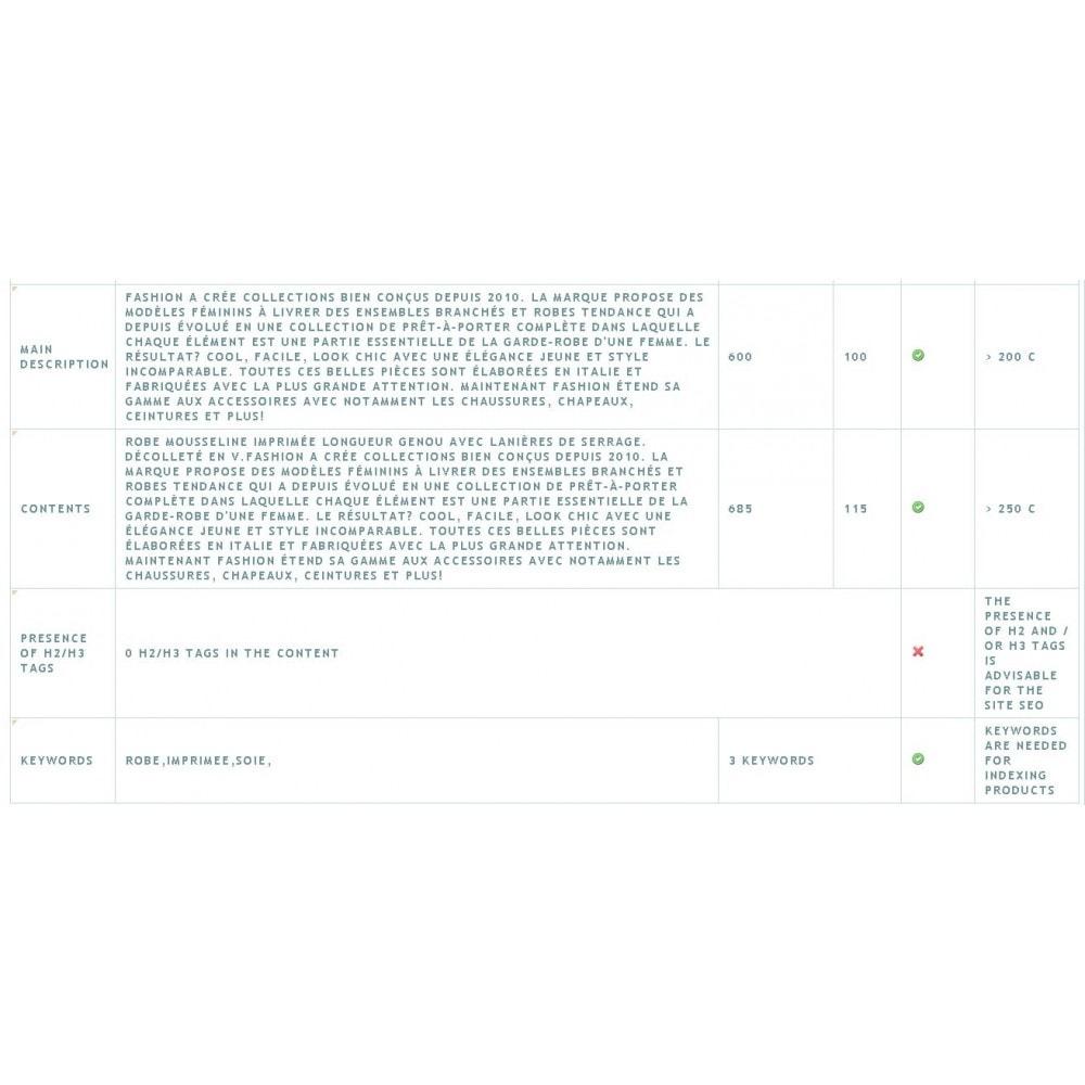 module - SEO (Pozycjonowanie naturalne) - SEO ANALYSIS - 2