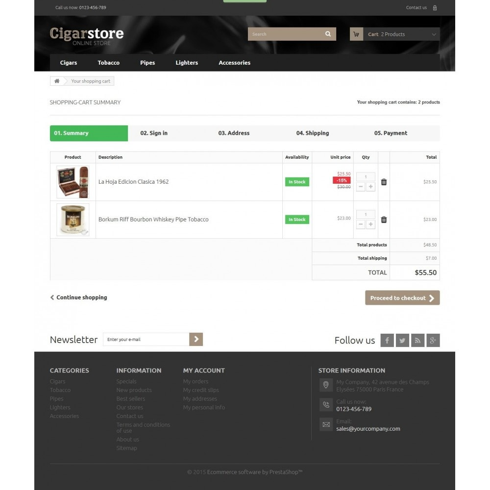 theme - Drink & Wine - Cigar Store 1.6 Responsive - 8