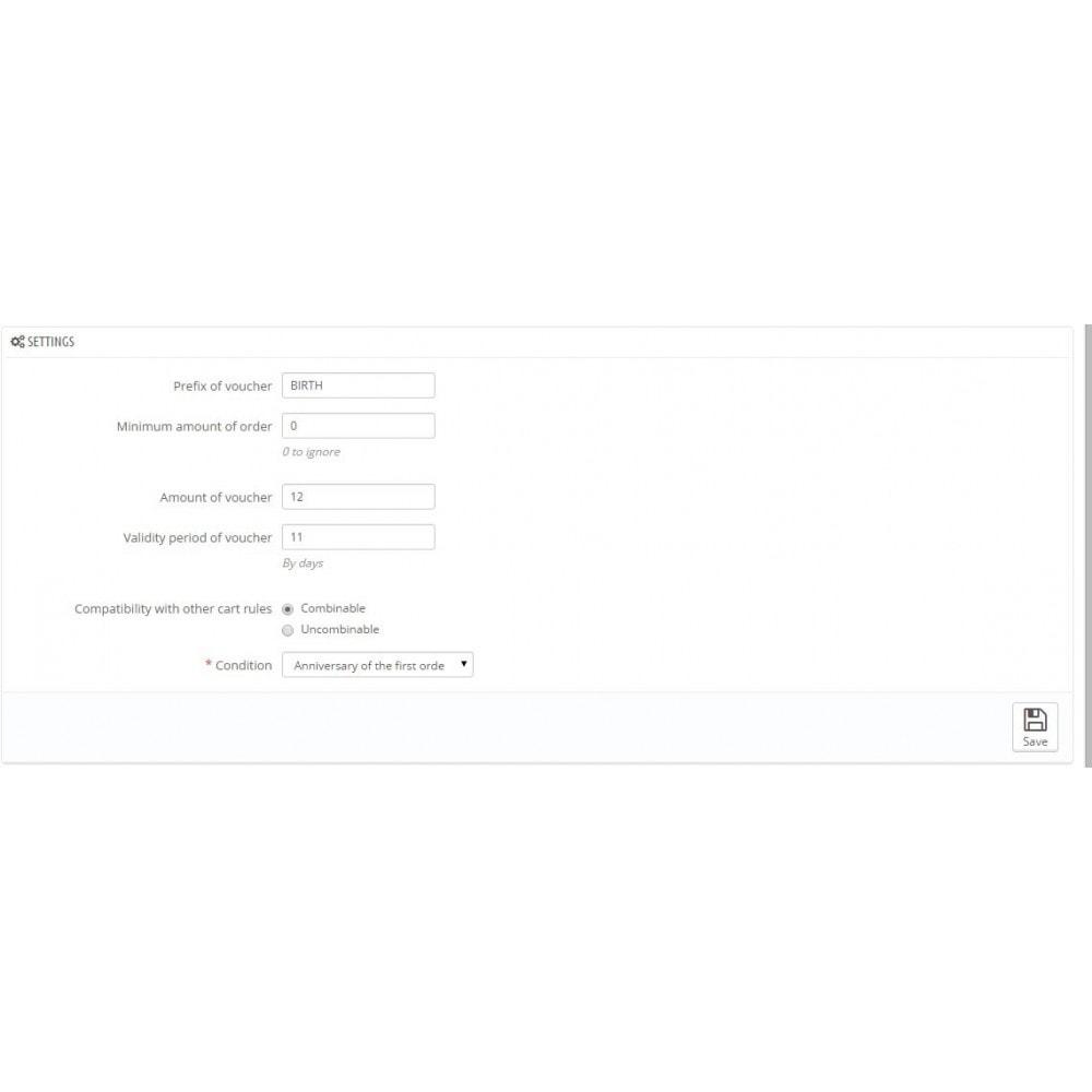 module - Empfehlungs- & Kundenbindungsprogramme - Birthday Reminder - 1