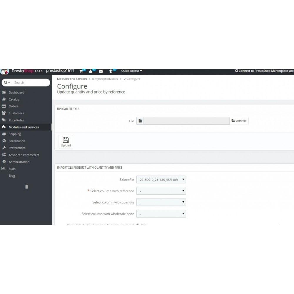 module - Быстрое & массовое редактирование - Обновление цены и количества по артикулу - 2