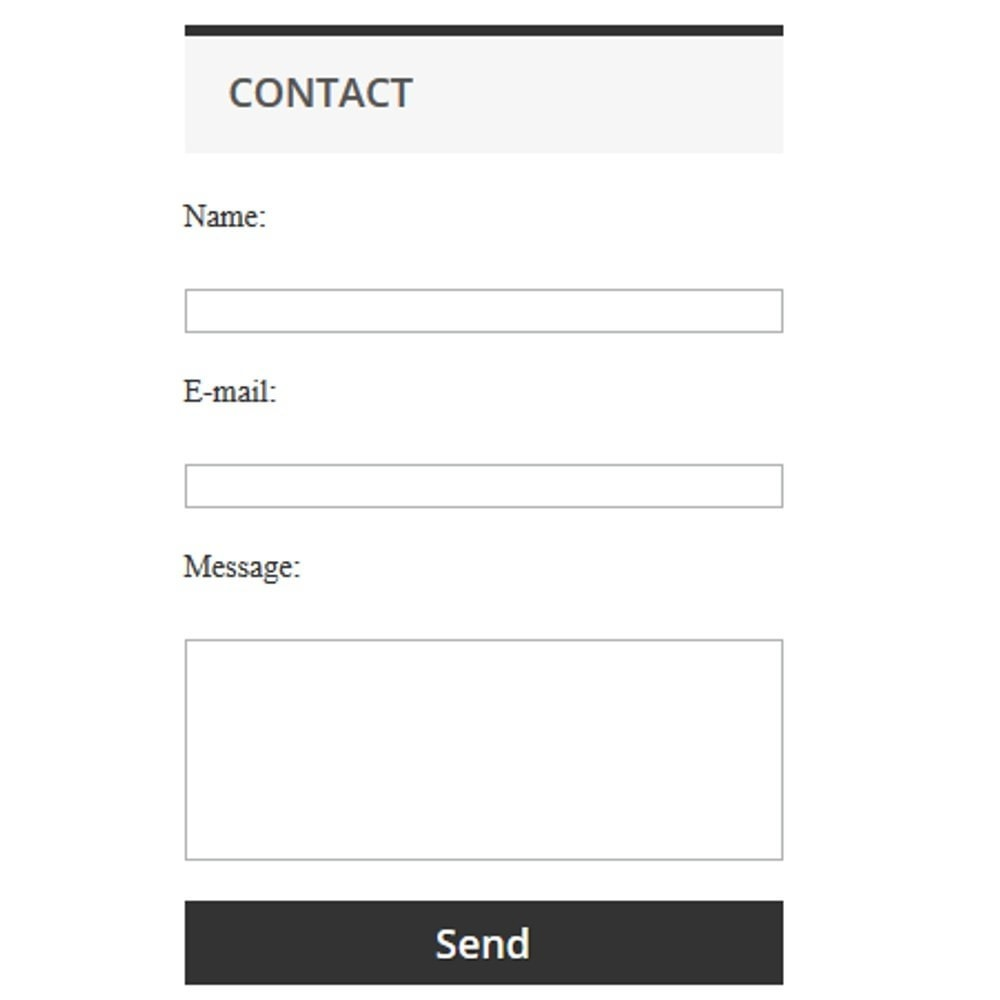 module - Contact Forms & Surveys - Simple contact form - 1