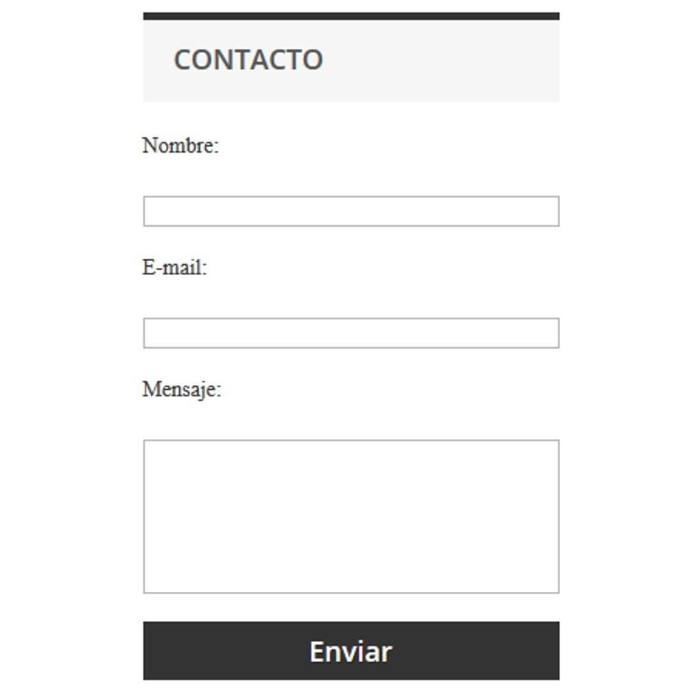 module - Formulario de contacto y Sondeos - Formulario de contacto simple - 1