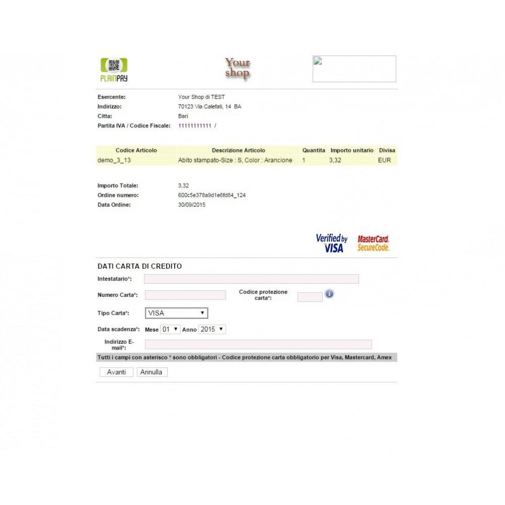module - Pagamento con Carta di Credito o Wallet - Auriga PlainPay - Soluzione facile di Pagamento - 4