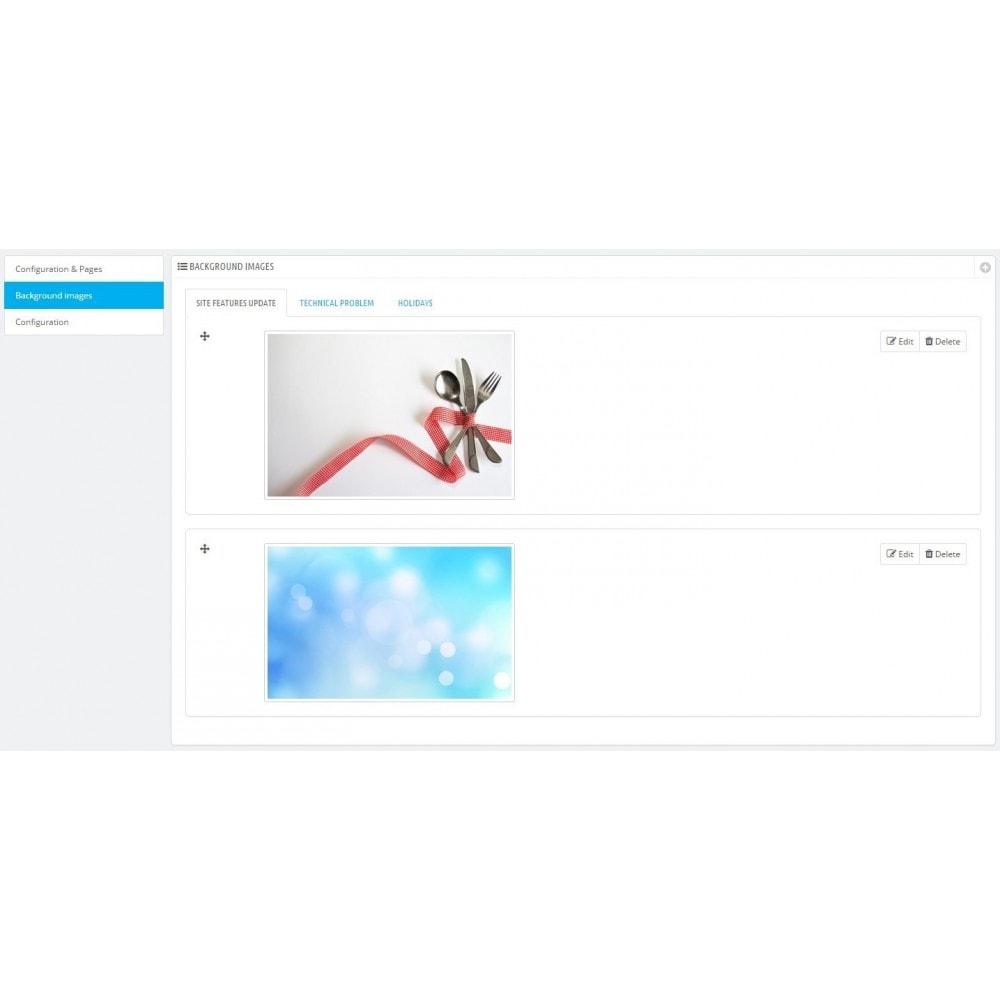module - Personalizzazione pagine - Maintenance - 6