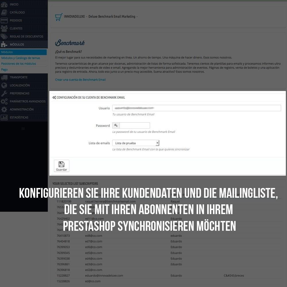 module - E-Mails & Benachrichtigungen - Benchmark Mail marketing Integration - 4