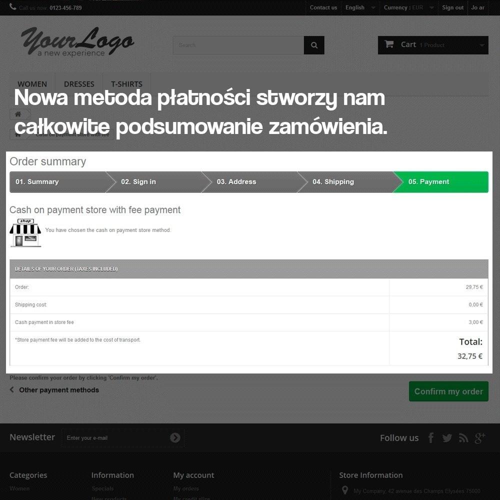 module - Płatność w sklepie - Payments in store (with optional commission) - 8