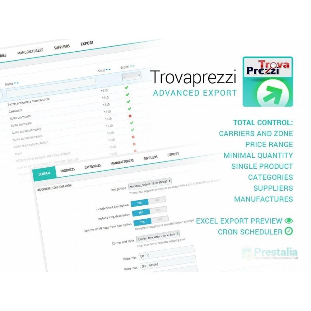 module - Importação & exportação de dados - Trovaprezzi - Export + Advanced Filters - 1