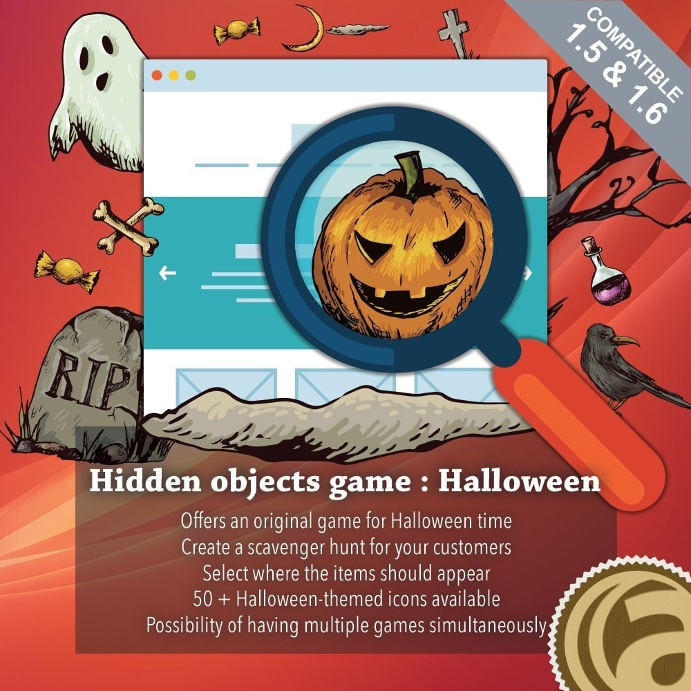 module - Contests - Hidden objects game : Halloween - 1