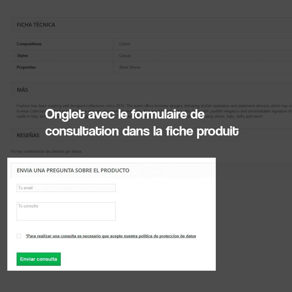 module - Législation - Demande de renseignements à partir de la page produit - 3
