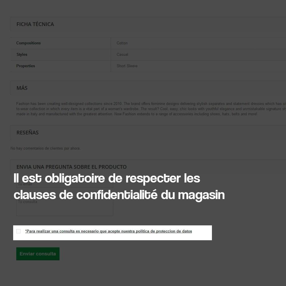 module - Législation (Loi Hamon) - Demande de renseignements à partir de la page produit - 5
