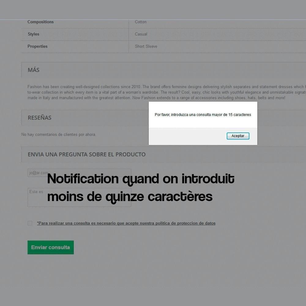 module - Législation - Formulaire de contact de la fiche produit - 6