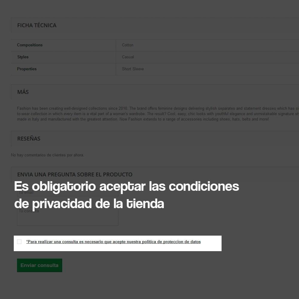 module - Marco Legal (Ley Europea) - Formulario de contacto desde Ficha de Producto - 5