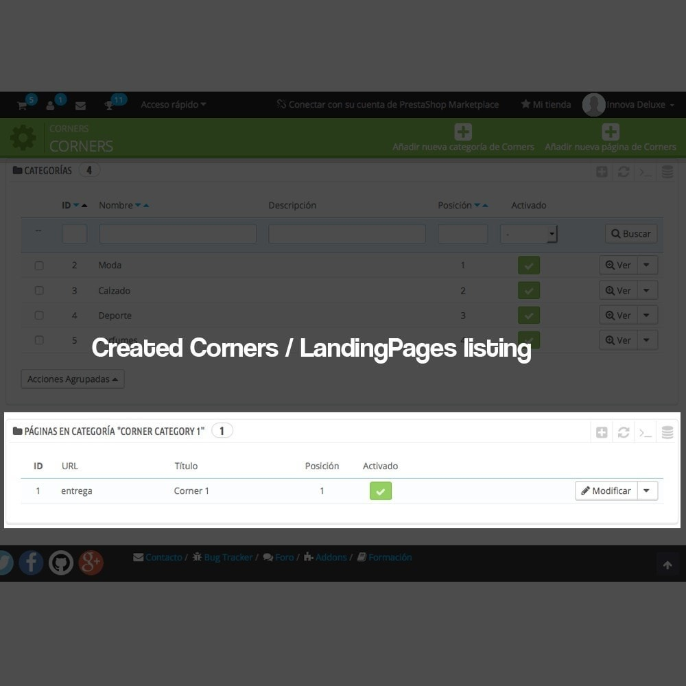 module - SEO - Landing pages, cornes or microsites creator - 4