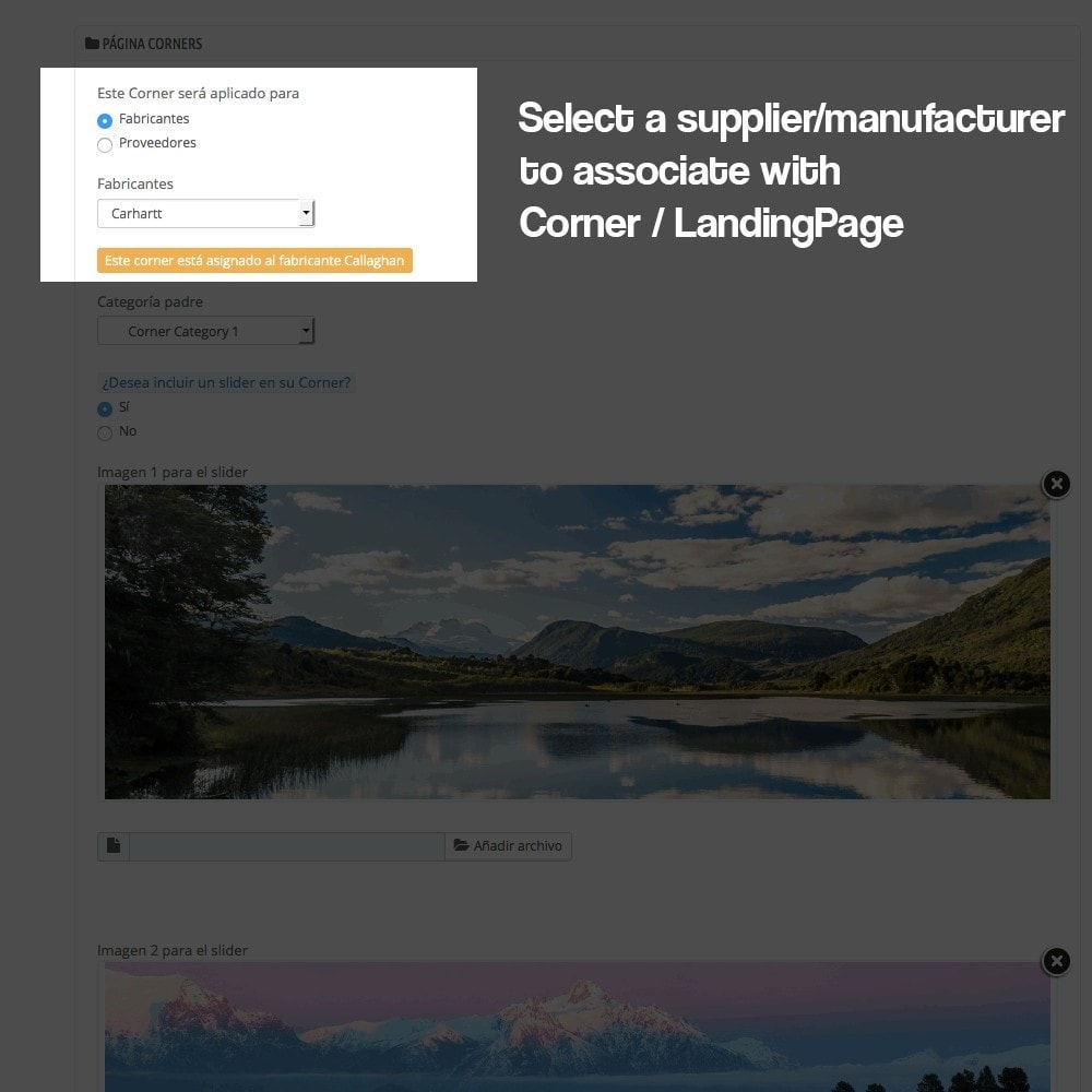 module - SEO - Landing pages, cornes or microsites creator - 6