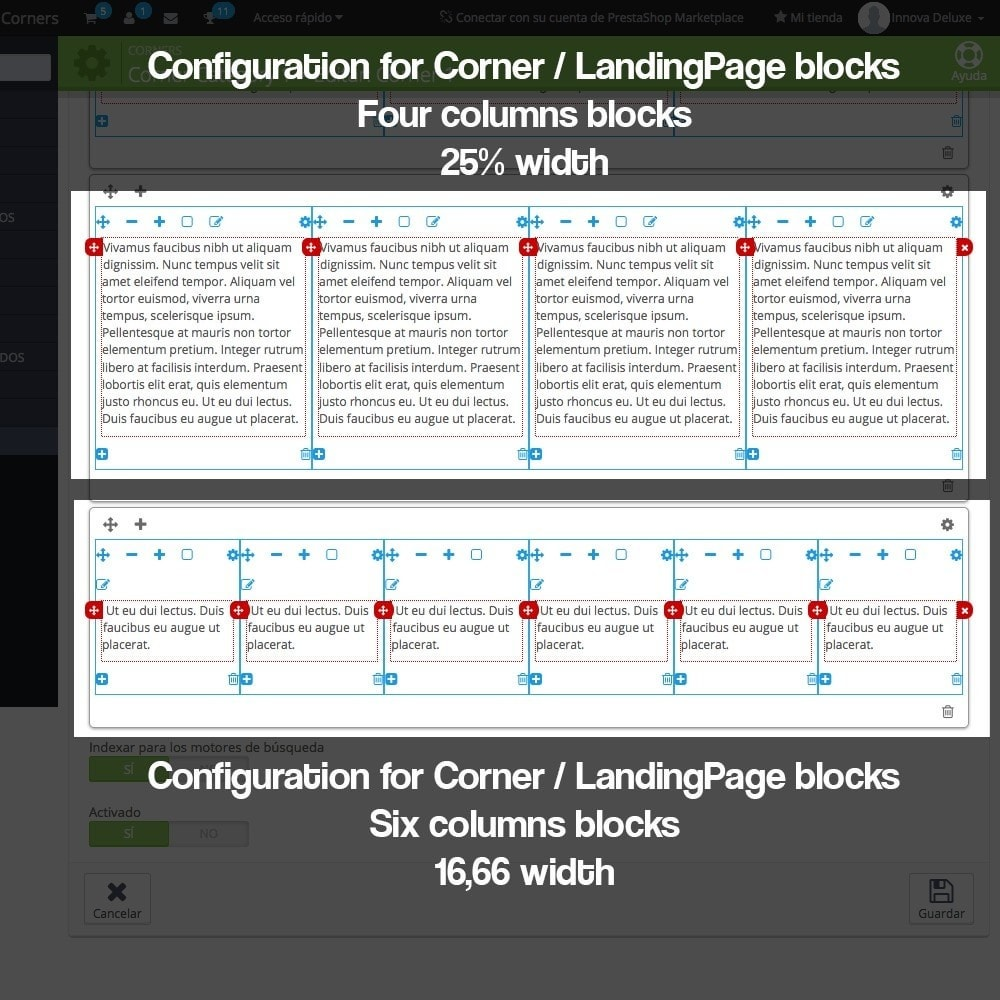 module - SEO - Landing pages, cornes or microsites creator - 13
