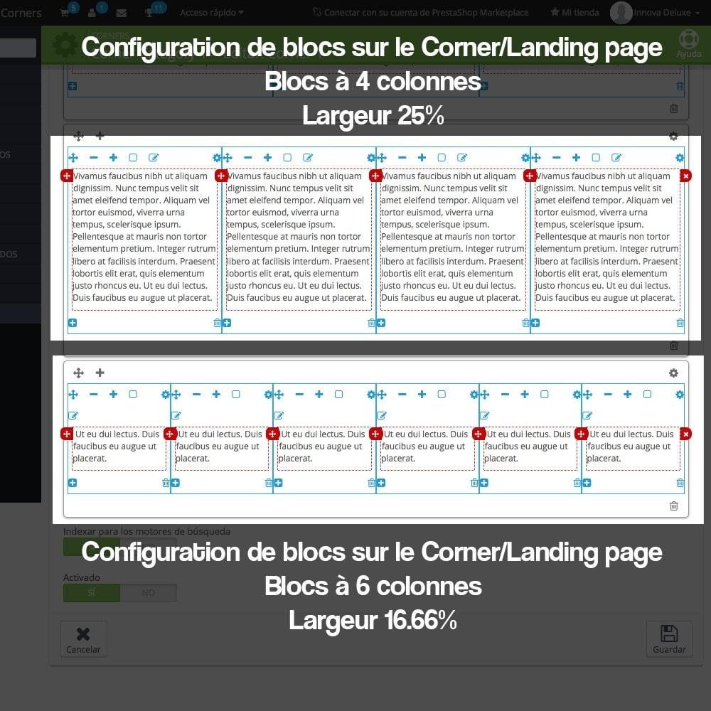 module - SEO (référencement naturel) - Créateur de Landingpages (corners) pour des marques - 13
