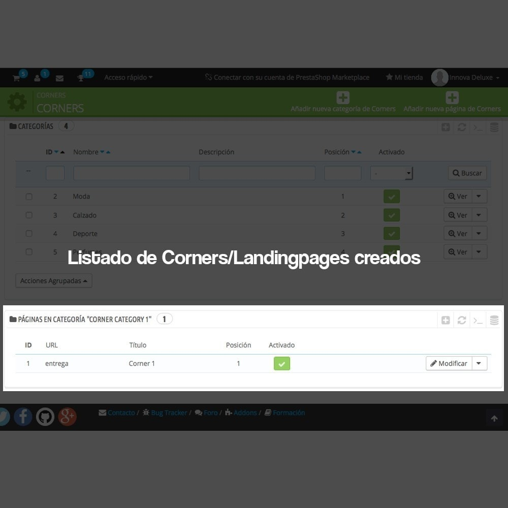 module - SEO (Posicionamiento en buscadores) - Creador de landing pages, cornes o microsites - 4
