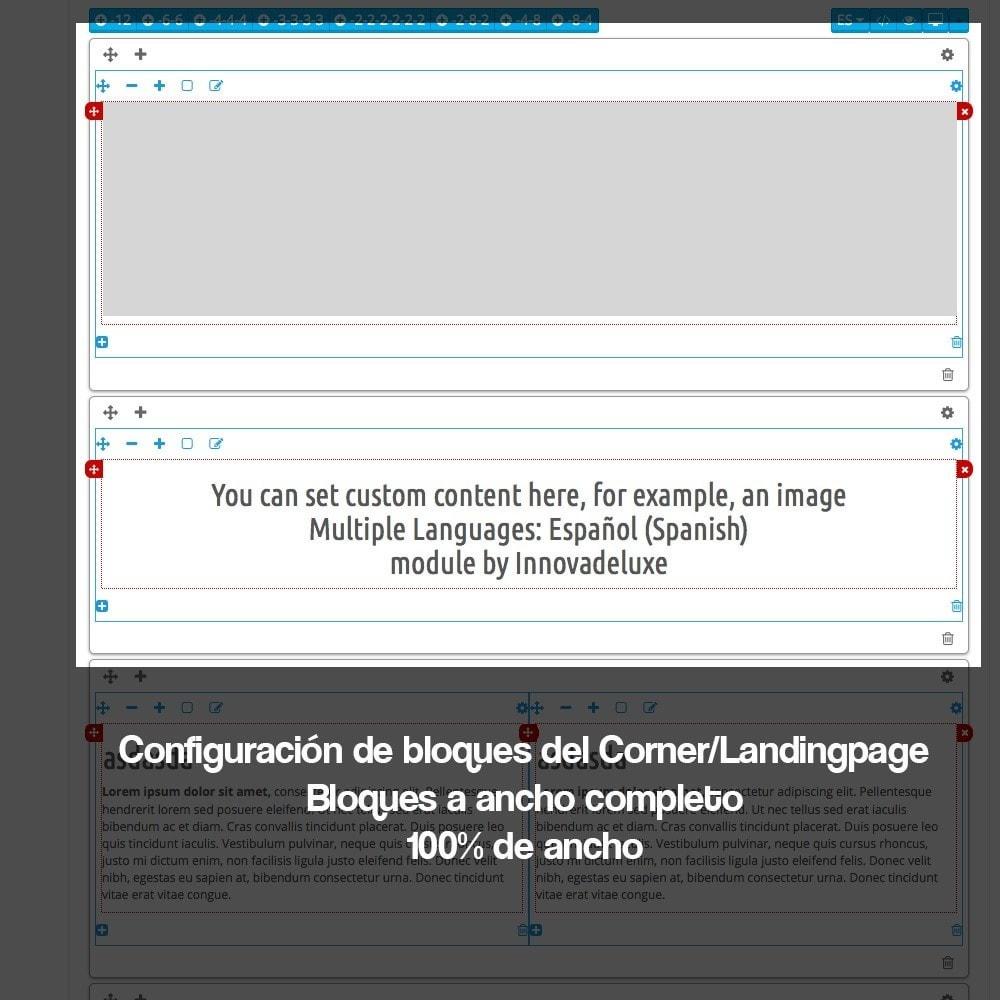module - SEO (Posicionamiento en buscadores) - Creador de landing pages, cornes o microsites - 11