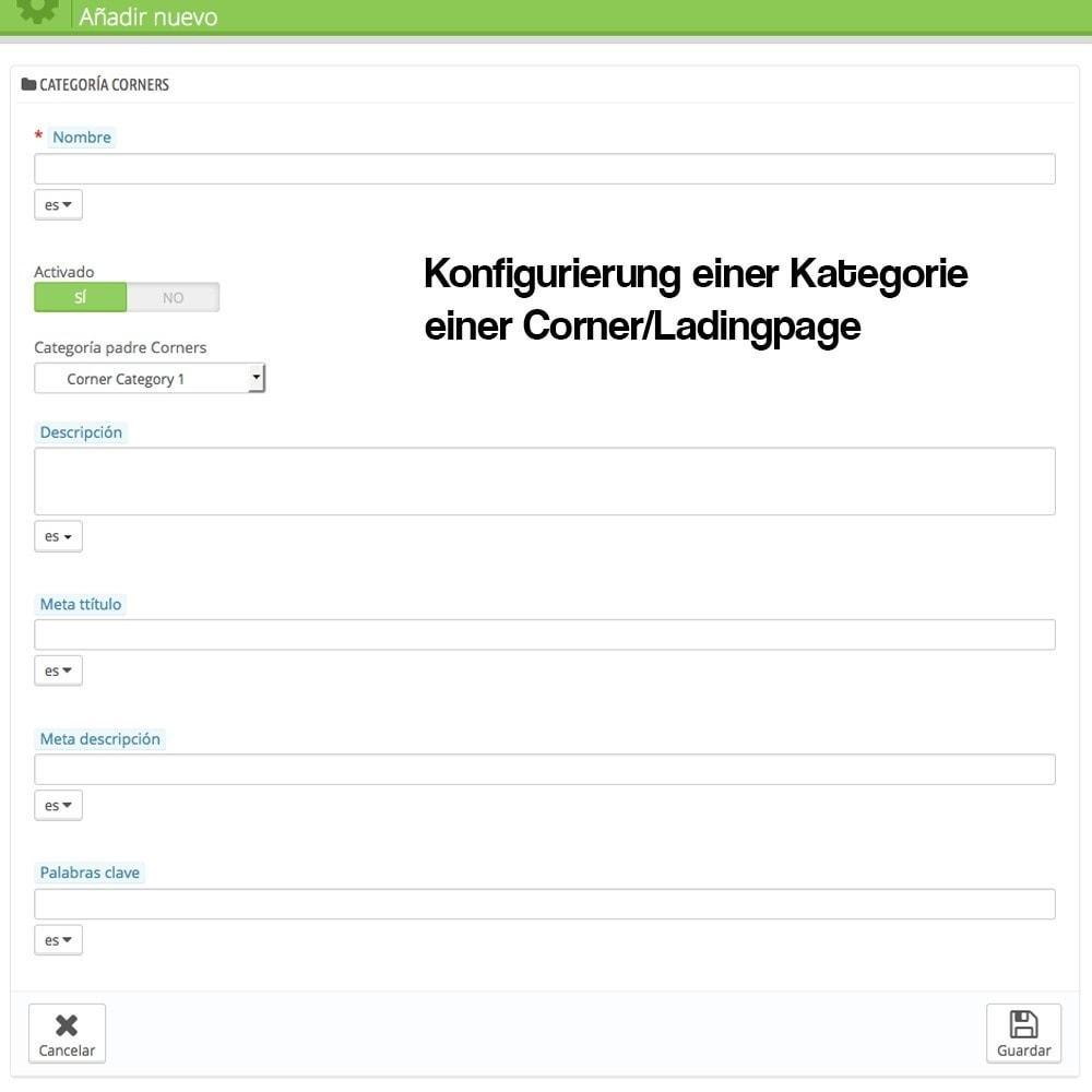 module - SEO - Modul zur Erstellung von Ladingpages-Corners für Marken - 3
