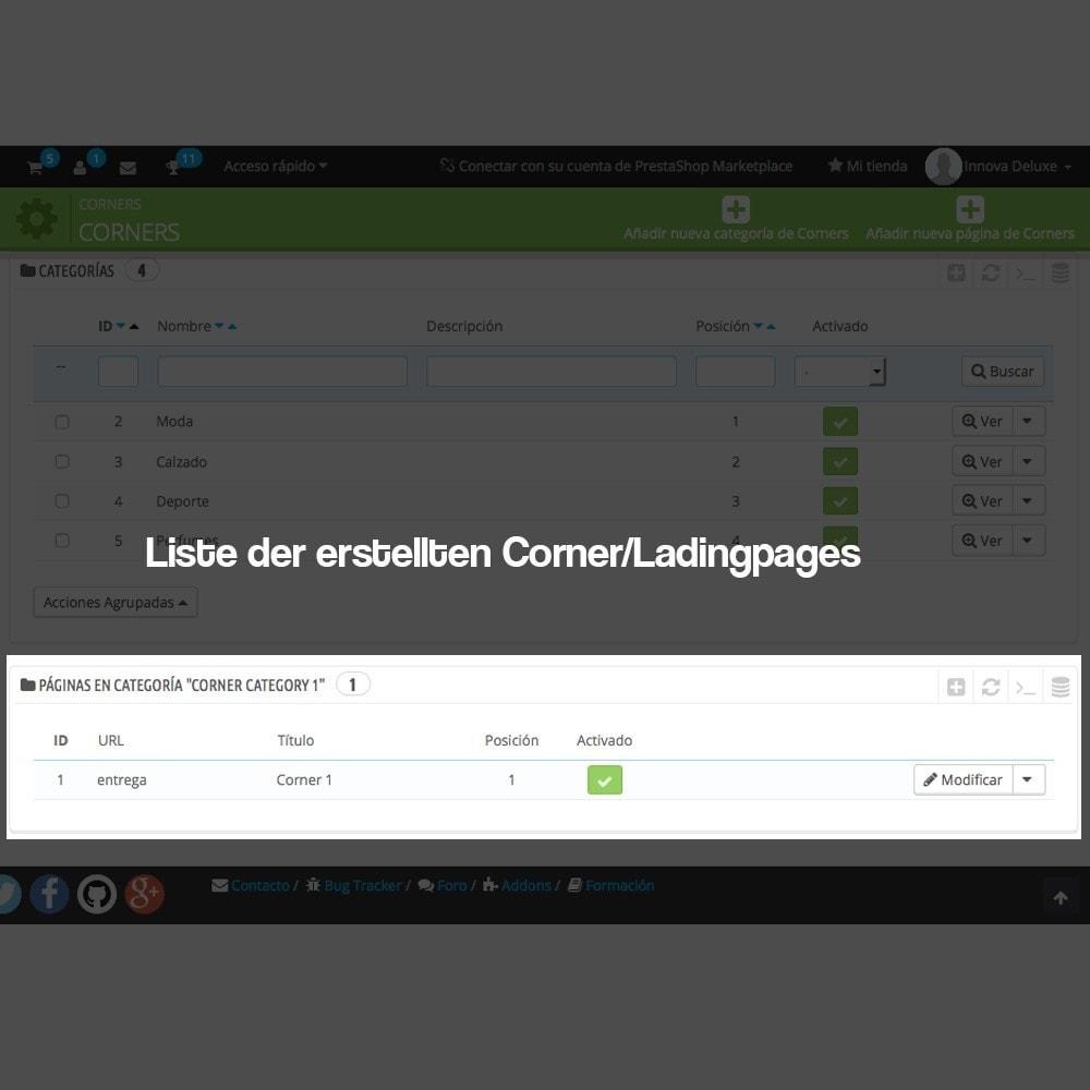 module - SEO - Modul zur Erstellung von Ladingpages-Corners für Marken - 4