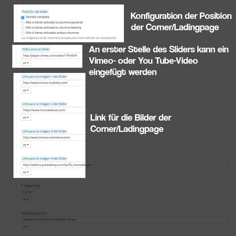 module - SEO - Modul zur Erstellung von Ladingpages-Corners für Marken - 9