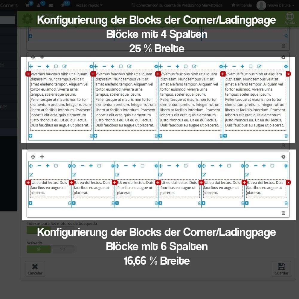 module - SEO - Modul zur Erstellung von Ladingpages-Corners für Marken - 13