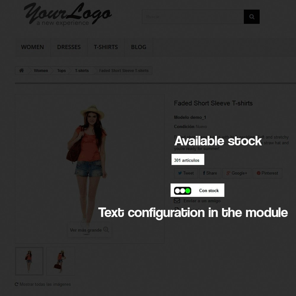module - Additional Information & Product Tab - Indicator of stock available in product page - 3