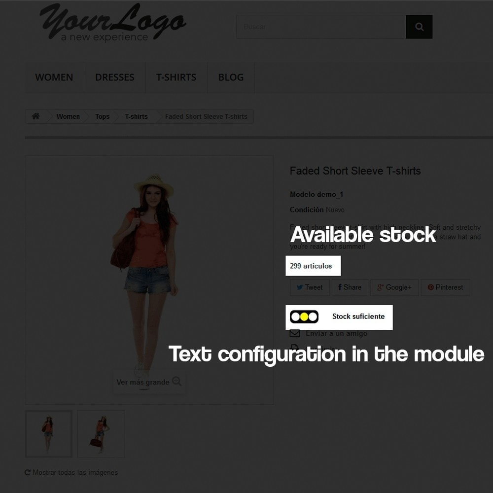 module - Additional Information & Product Tab - Indicator of stock available in product page - 5