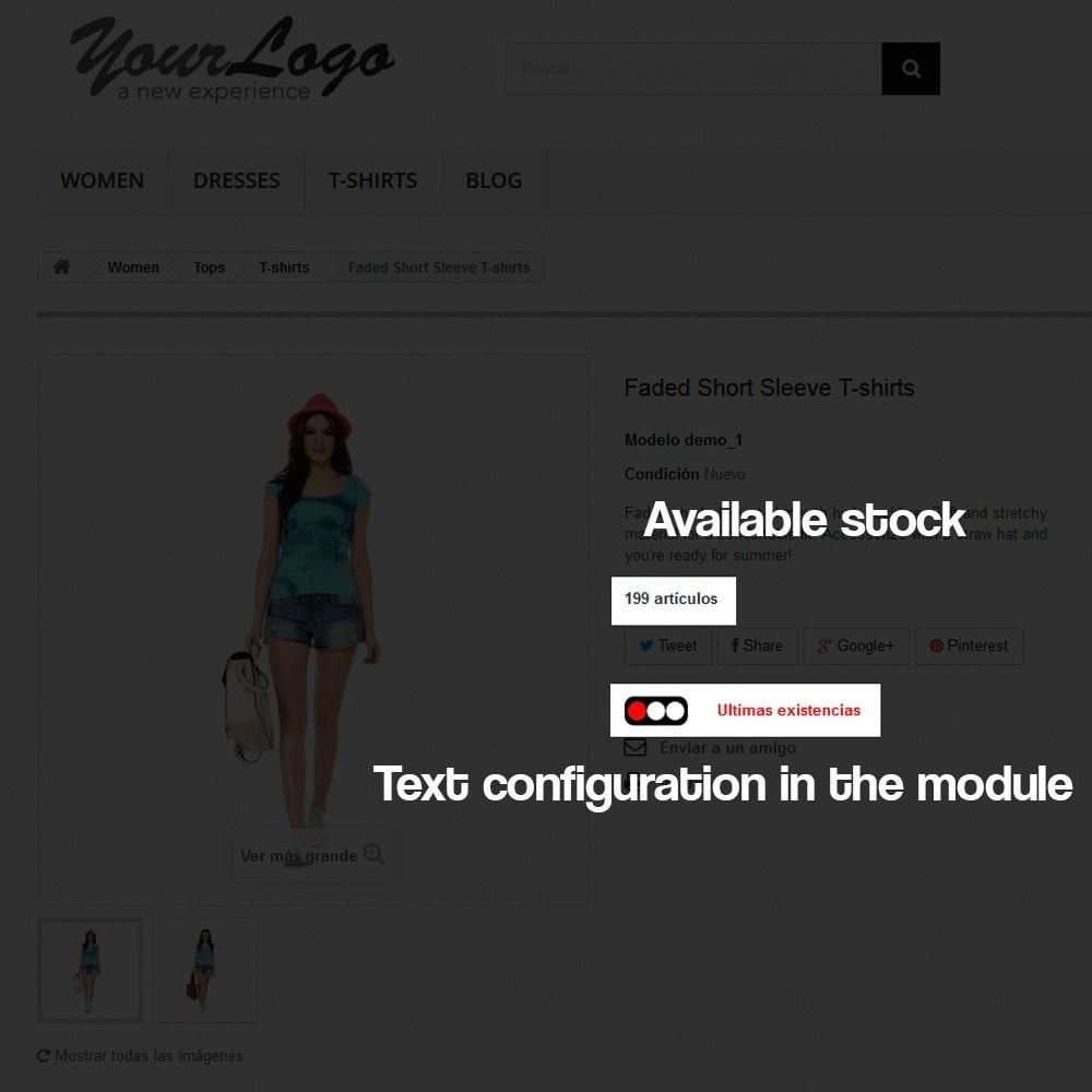 module - Additional Information & Product Tab - Indicator of stock available in product page - 7