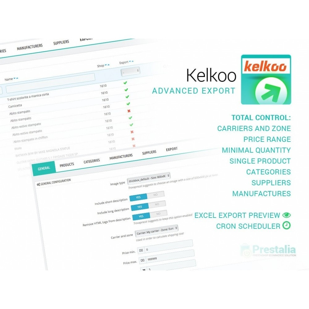 module - Price Comparison - Kelkoo - Export + Advanced Filters - 1