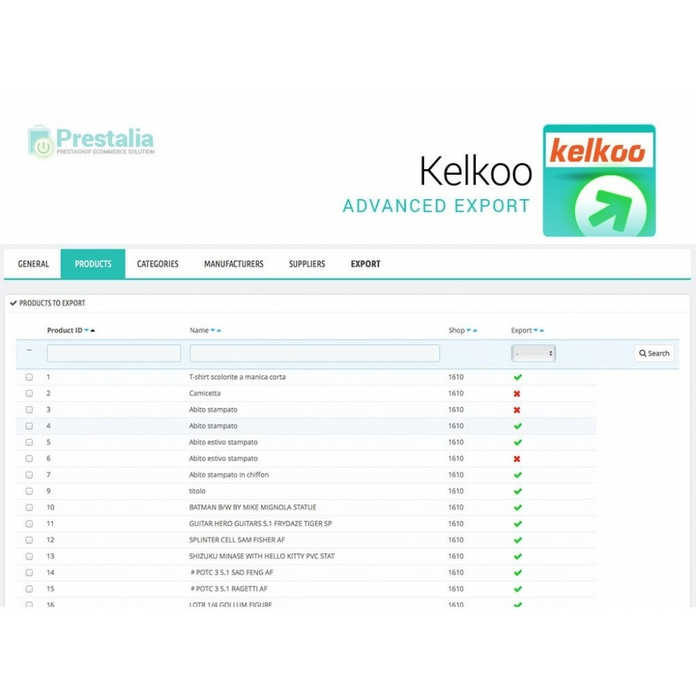 module - Price Comparison - Kelkoo - Export + Advanced Filters - 3