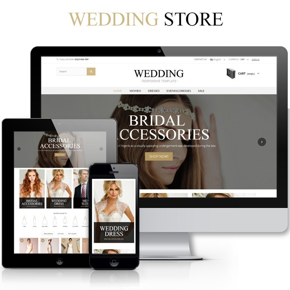 theme - Mode & Chaussures - WEDDING STORE 1.6 Responsive Template - 1