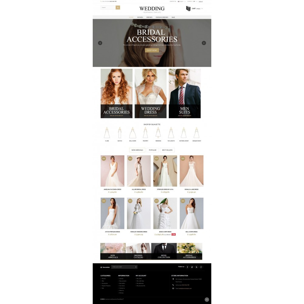 theme - Mode & Chaussures - WEDDING STORE 1.6 Responsive Template - 2