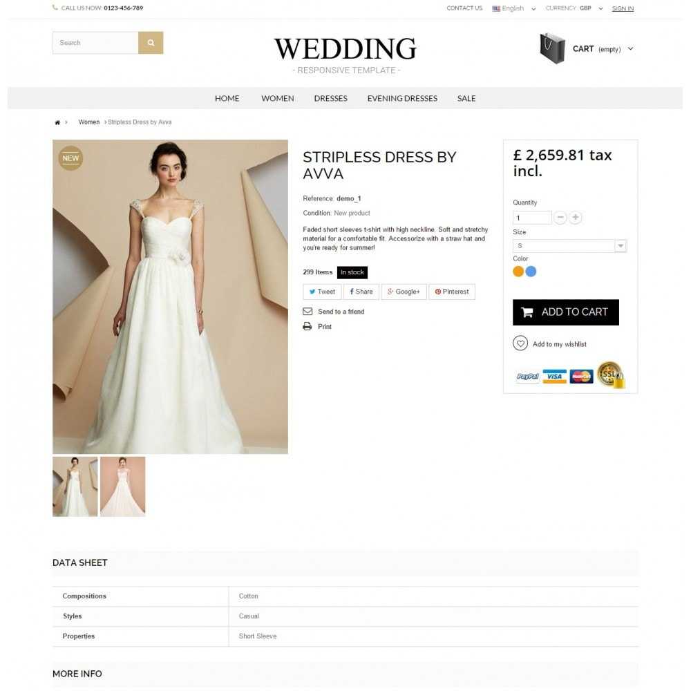 theme - Mode & Chaussures - WEDDING STORE 1.6 Responsive Template - 4