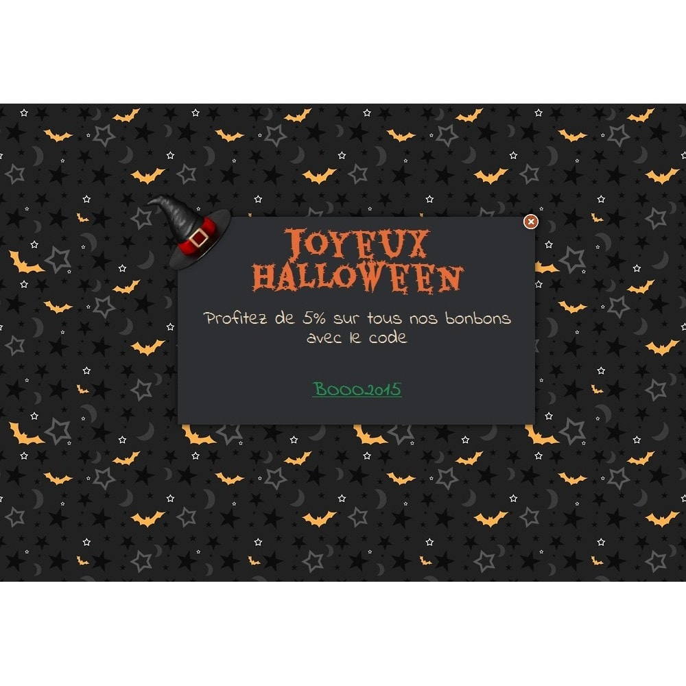 module - Pop-up - Message de Halloween - 1
