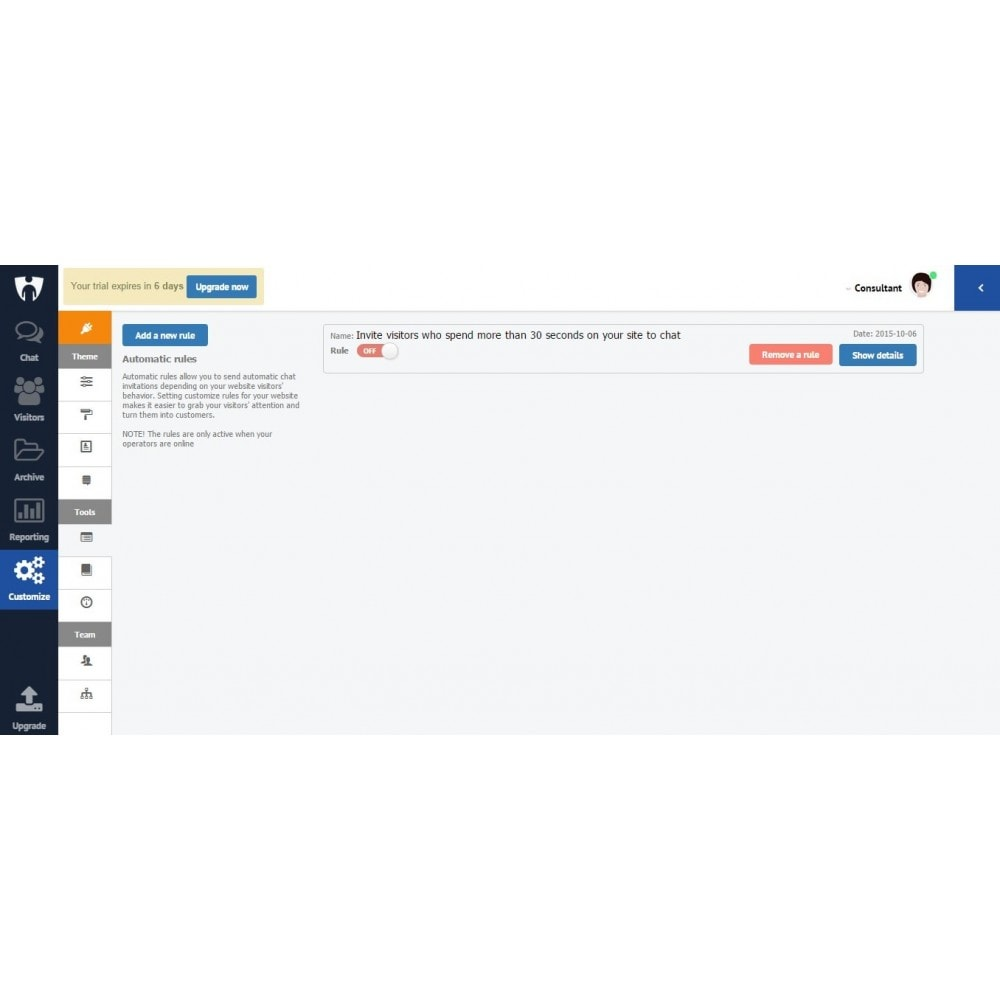 module - Support & Online Chat - CustomerICare live chat - 2