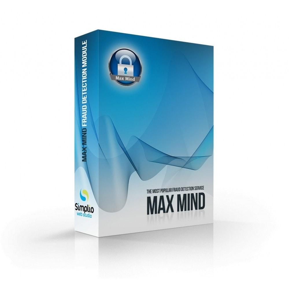 module - Безопасности и доступа - MaxMind minFraud Detection - 1