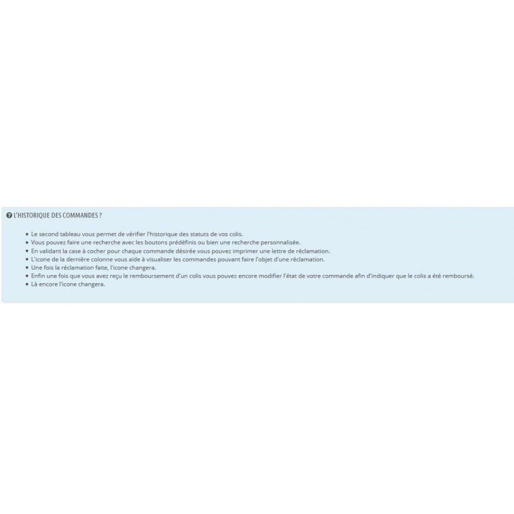 module - Suivi de livraison - Suivi la Poste - 6