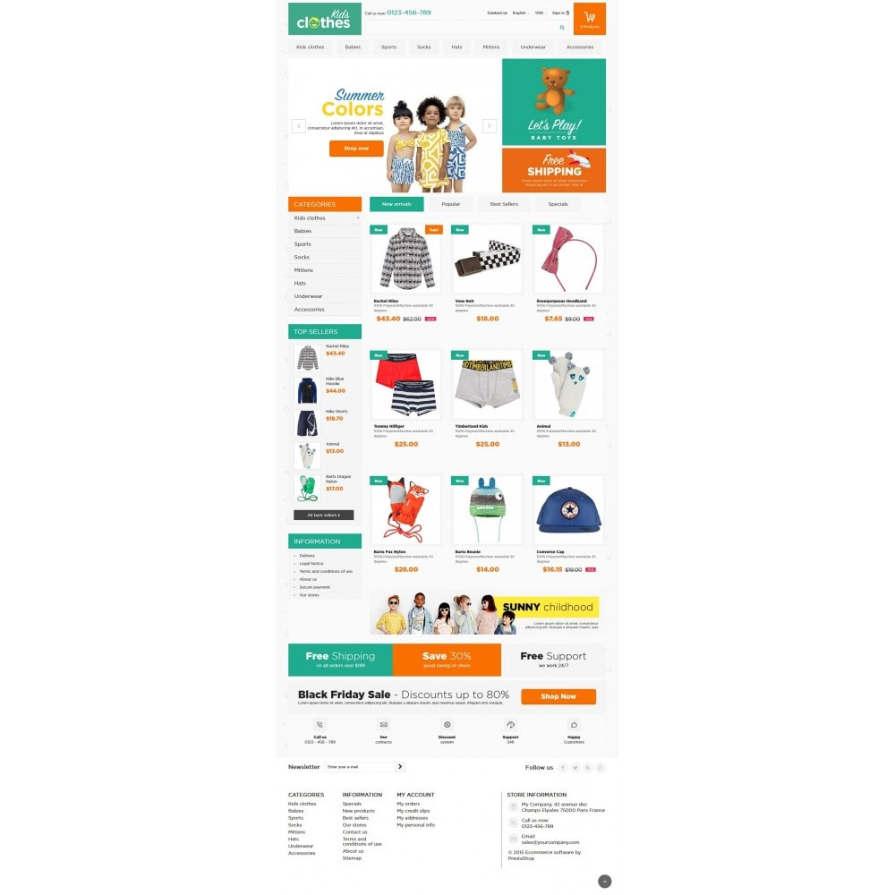 theme - Enfants & Jouets - Kids Clothes 1.6 Responsive - 2
