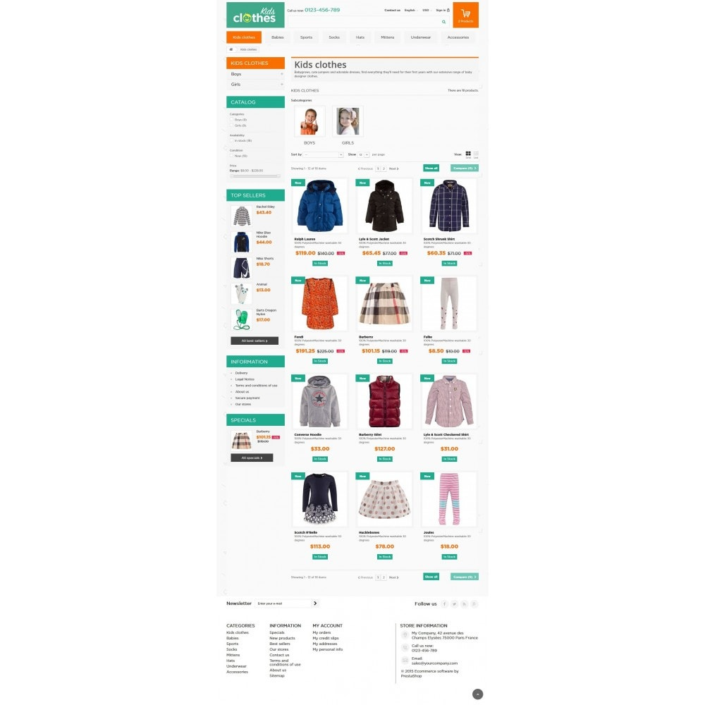 theme - Enfants & Jouets - Kids Clothes 1.6 Responsive - 5