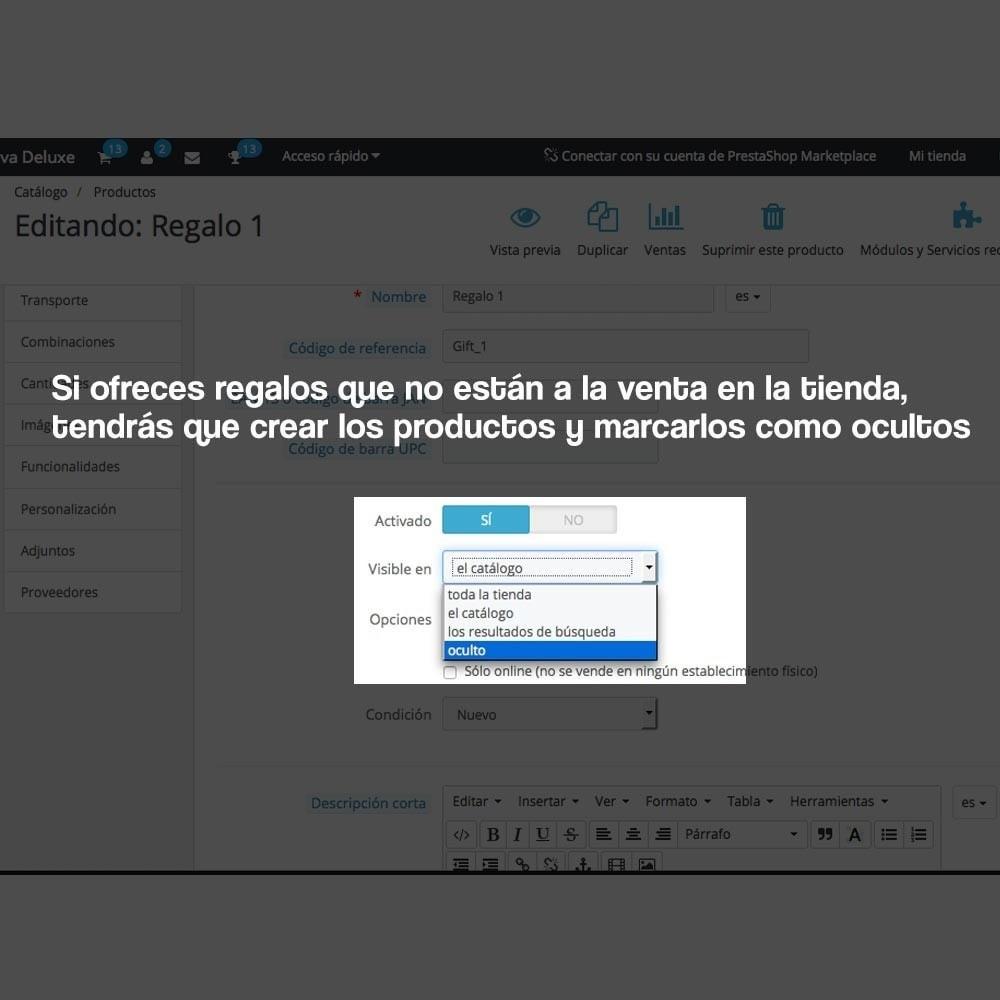 module - Promociones y Regalos - Regalos en la cesta para incrementar valor del pedido - 8