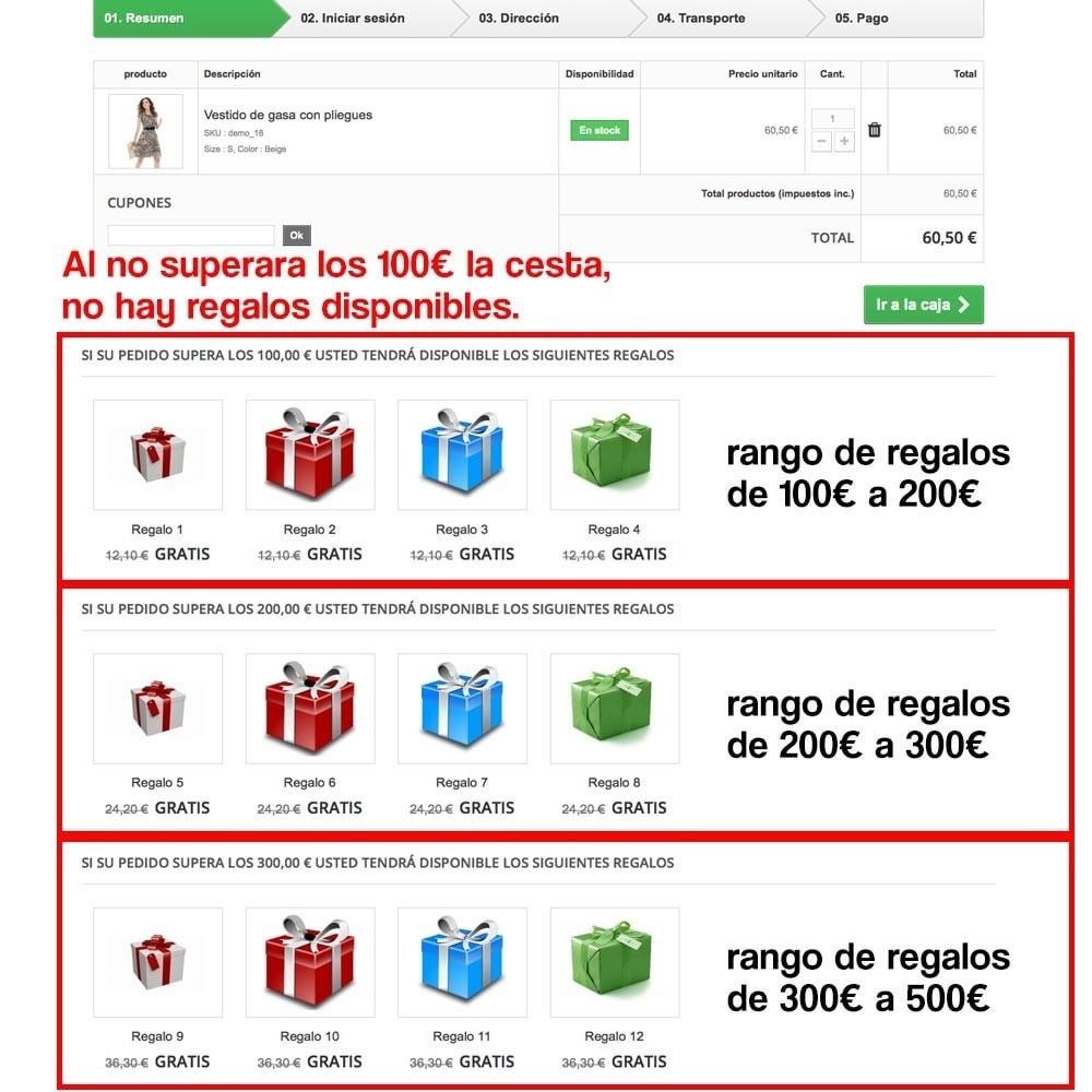 module - Promociones y Regalos - Regalos en la cesta para incrementar valor del pedido - 10