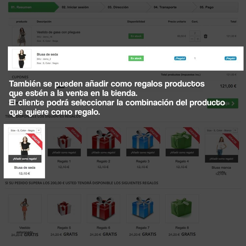 module - Promociones y Regalos - Regalos en la cesta para incrementar valor del pedido - 15